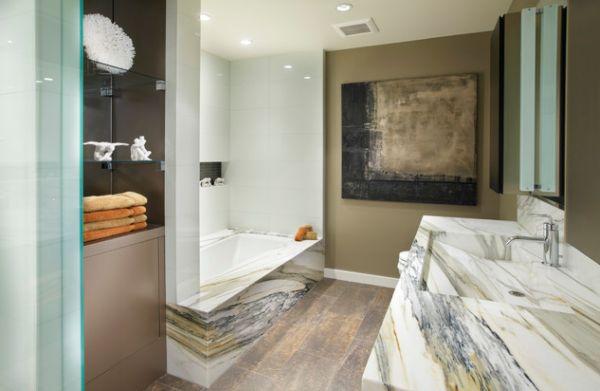 Красивый дизайн интерьера ванной в итальянском стиле