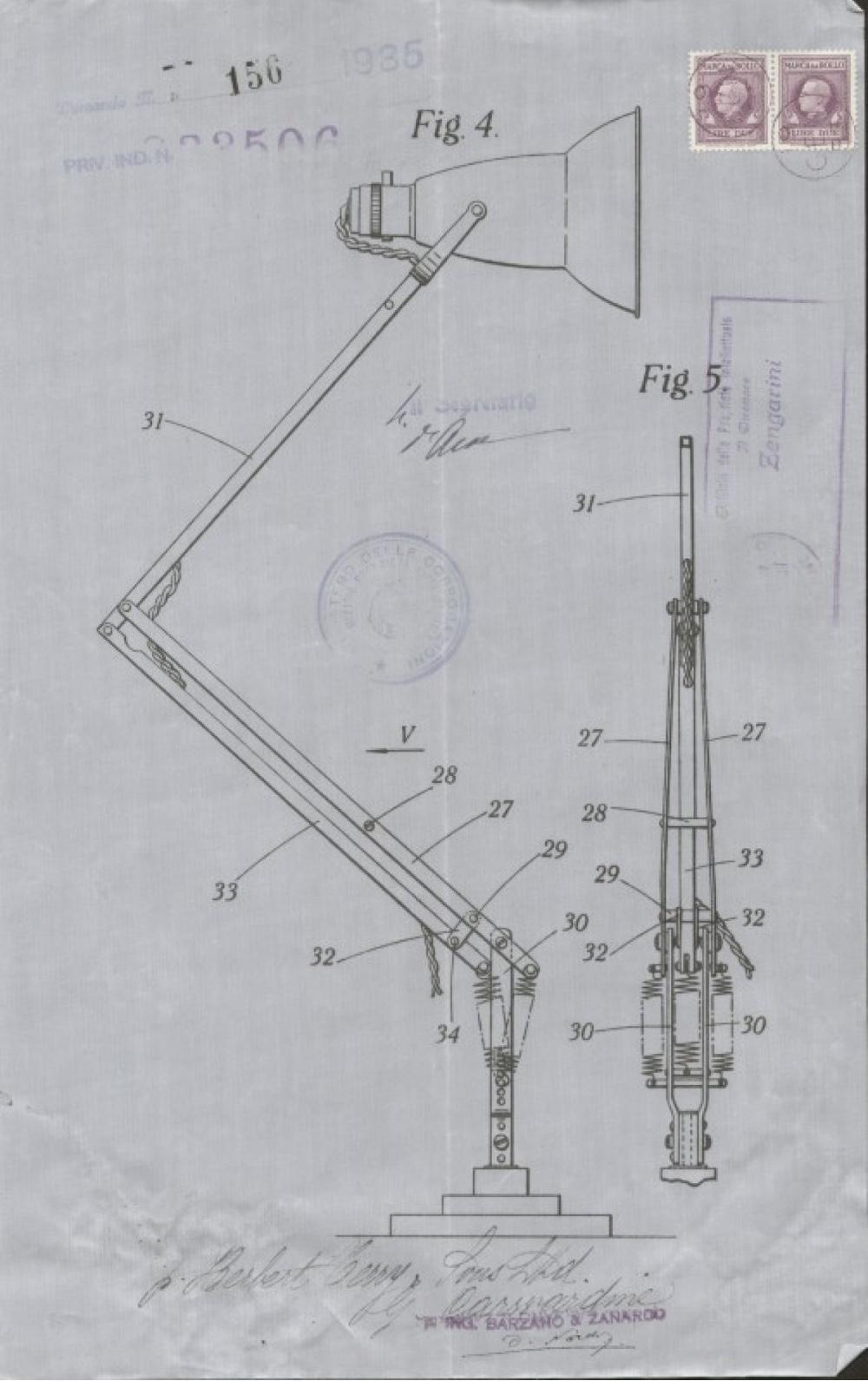Дизайн известной настольной лампы: чертежи