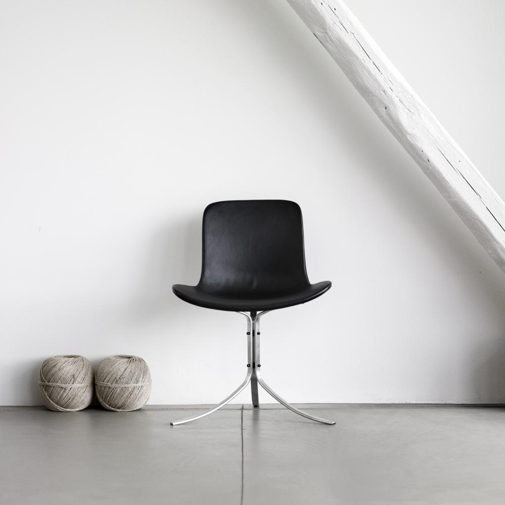 Известный датский дизайнер Poul Kjaerholm - стул PK9