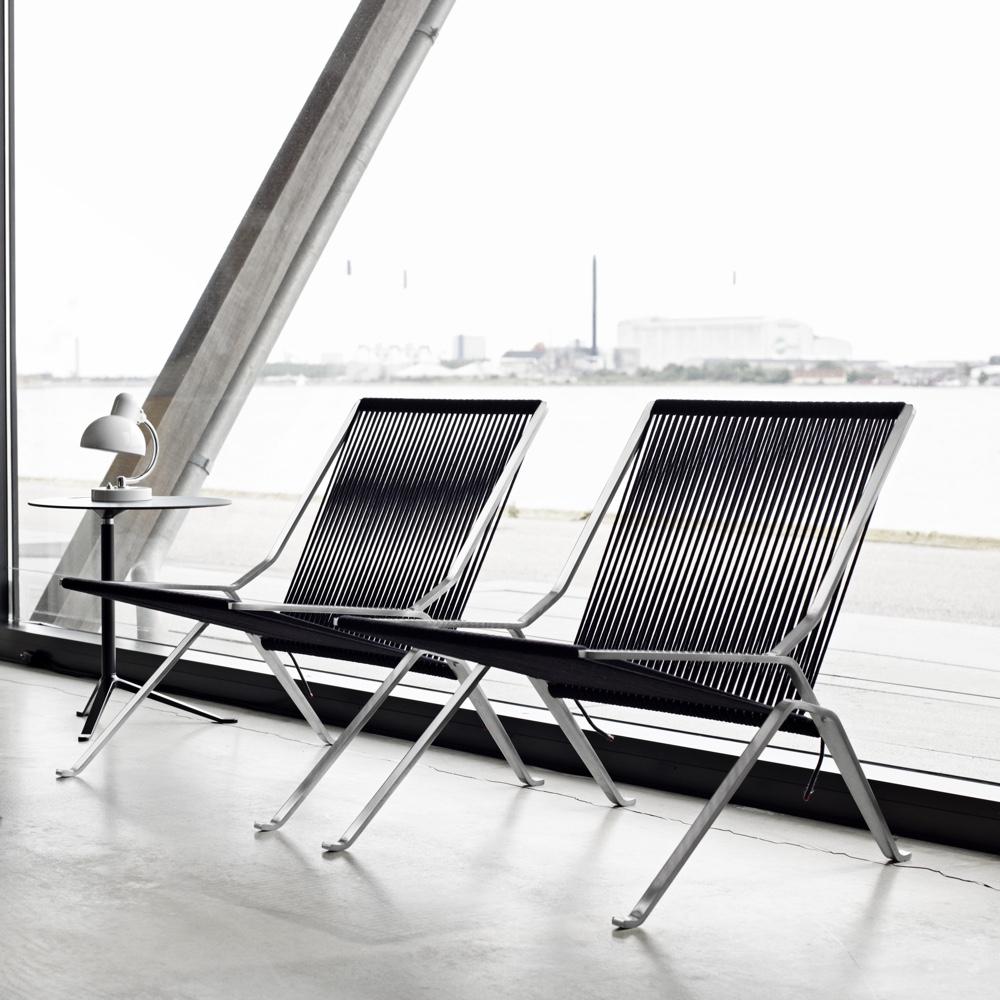 Известный датский дизайнер Poul Kjaerholm - кресло PK25