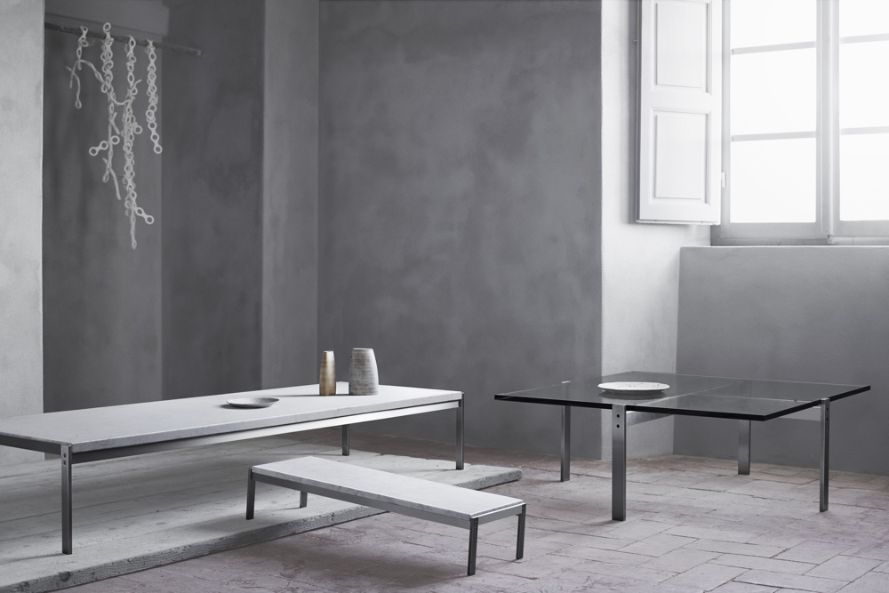 Известный датский дизайнер Poul Kjaerholm - журнальные столики PK62, PK63 и PK65