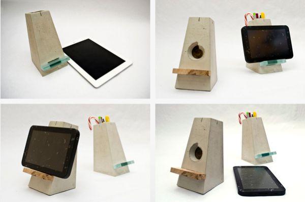 Подставка для планшета из бетона
