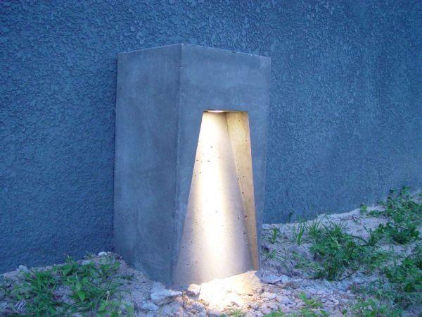 Креативный светильник из бетона