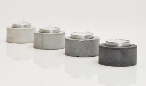 Шикарные подсвечники из бетона