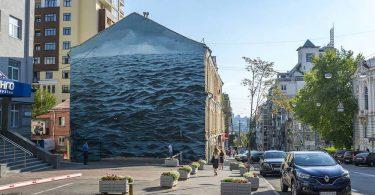 ArtUnitedUs в Киеве: масштабный морской пейзаж от Джейка Айкмана