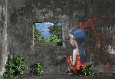 Детские персонажи стран Востока: новые путевые зарисовки уличного художника Жюльена Мелёнда