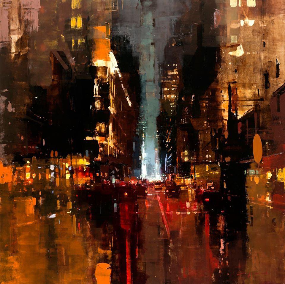 Картины маслом от Джереми Манна: мистические городские пейзажи