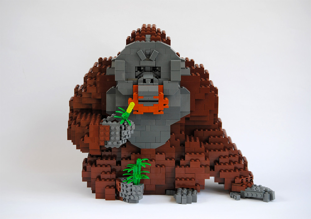 Фауна в необычной среде: реалистичные скульптуры из LEGO от Феликса Йенша