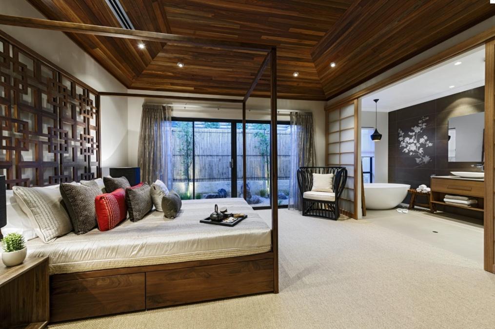 Оформление интерьера спальни в японском стиле