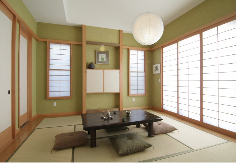 Оформление интерьера гостиной в японском стиле