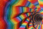 Бумажные скульптуры от Джен Старк: психоделические радужные вихри для украшения интерьера