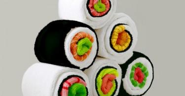 Ролики суши: концепция хранения кухонных и банных полотенец от Дженни Покрывайло