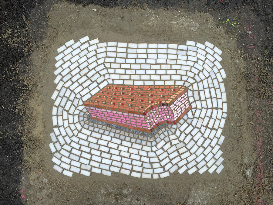 Mosaicos de Jim Bachor: dulces sorpresas en las calles.