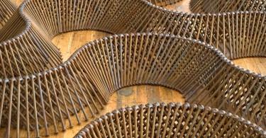 Джон Бисби: геометрические формы скульптур, изваянные из гвоздей