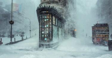 Микеле Палаццо: зимняя сказка в Нью-Йорке – небоскрёб Флэшерон