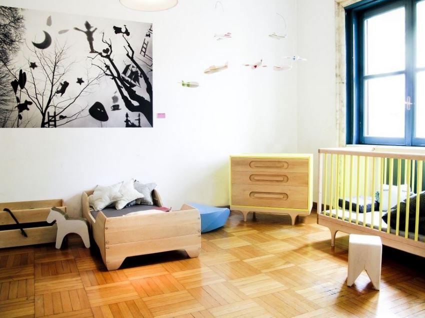 Прекрасный интерьер детской комнаты