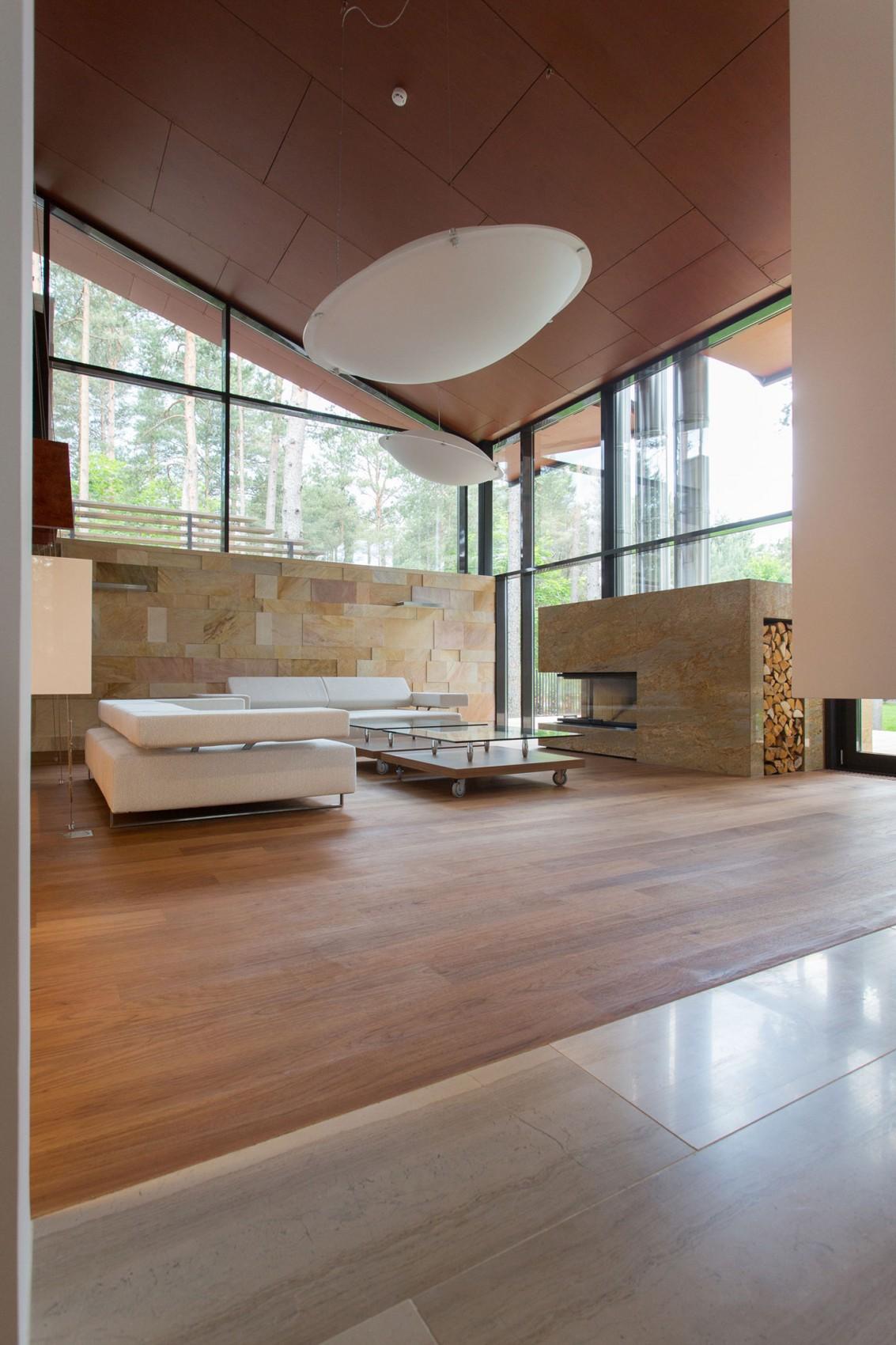 Камин в интерьере гостиной - Фото 20