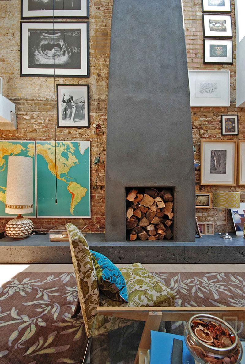 Камин в интерьере гостиной - Фото 30