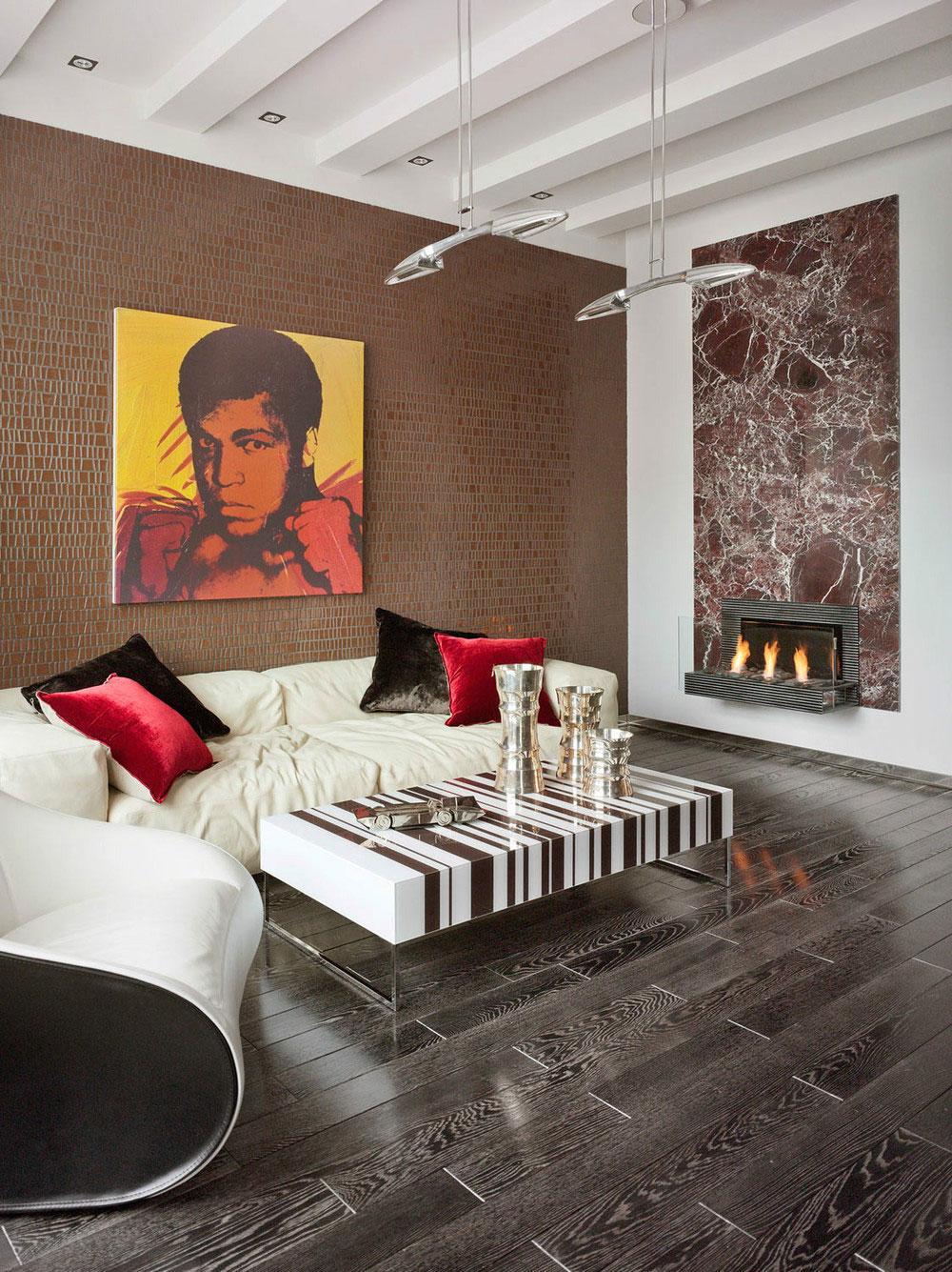 Камин в интерьере гостиной - Фото 45