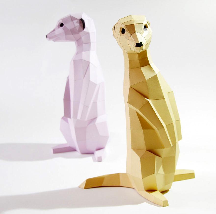 Как сделать объемную фигуру животного из бумаги