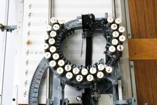 Нотная печатная машинка