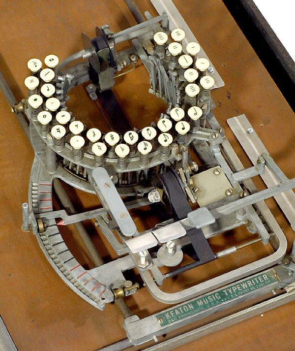 Удивительная нотная печатная машинка