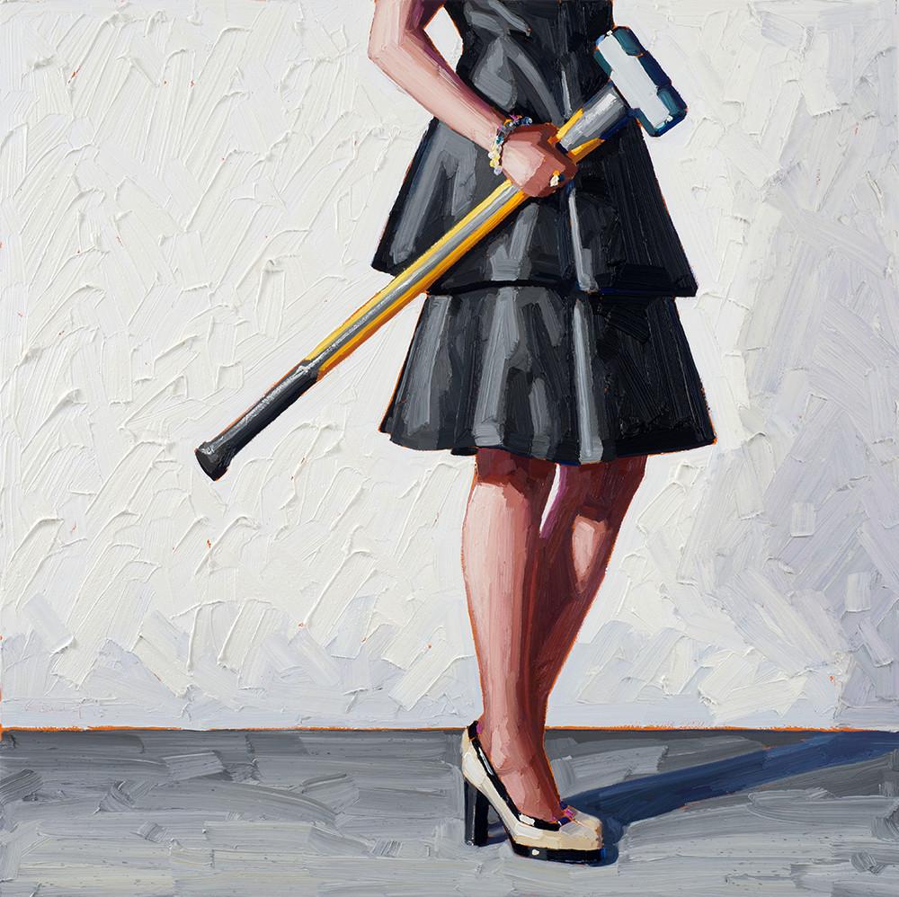 Картинка женщина с молотком