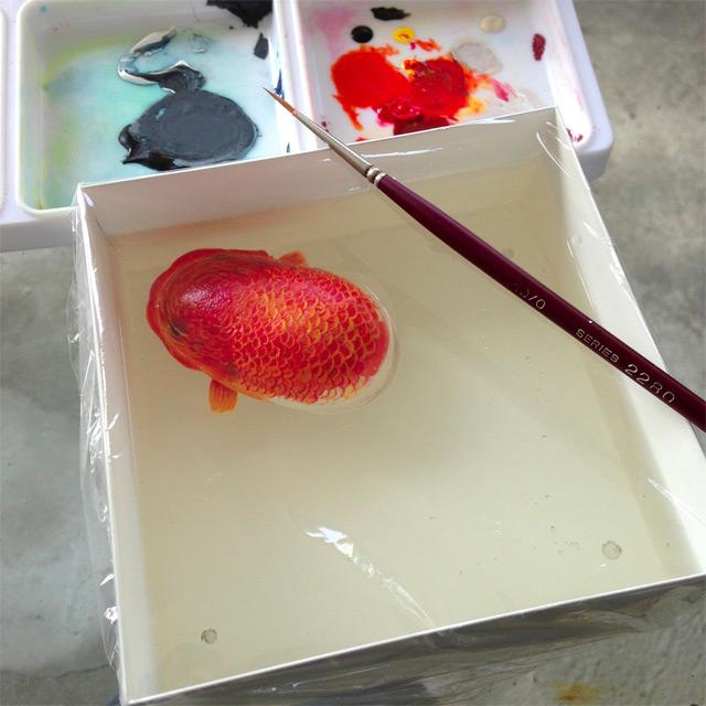 Морское творение в виде рисунка