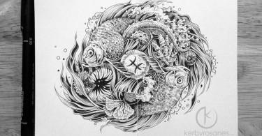 Керби Росанес: красивые рисунки на листочках обычного блокнота