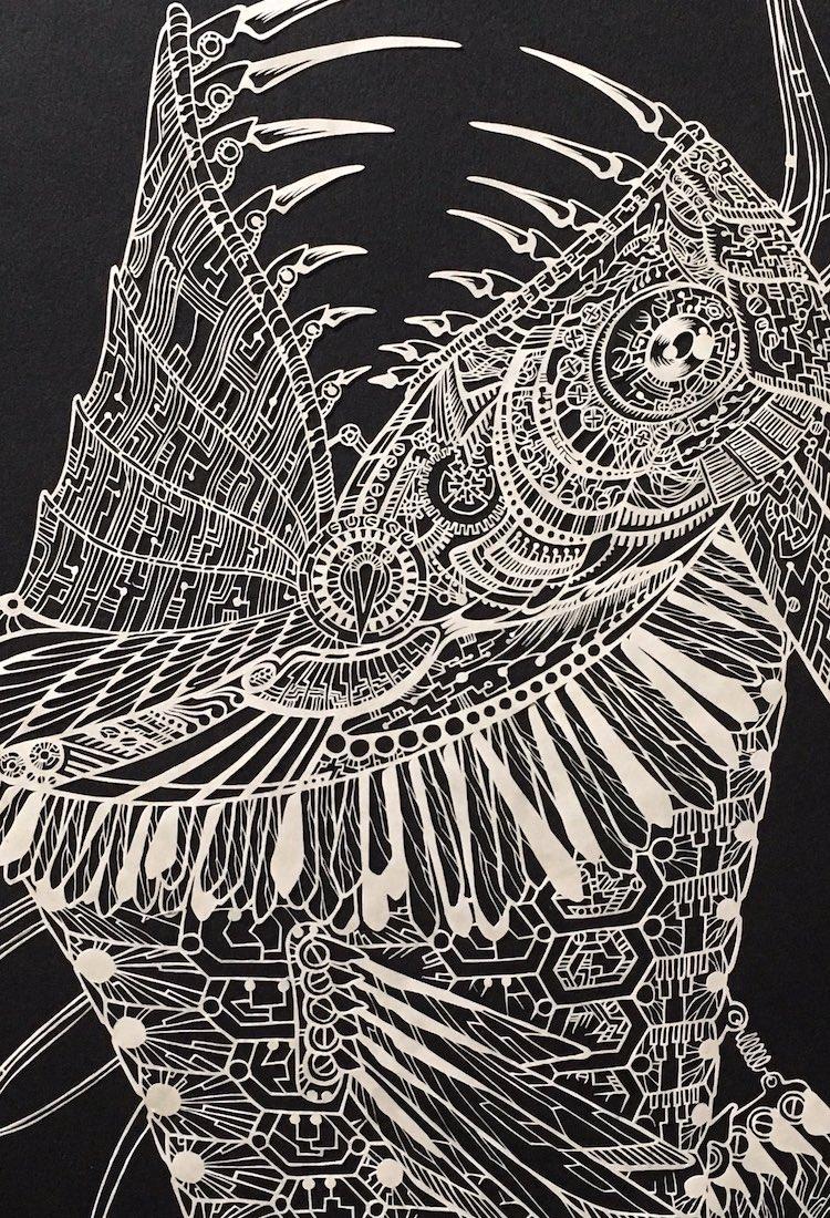 Точные резные рисунки из бумаги от Кири Кен