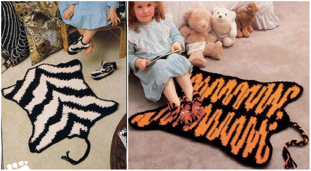Вязанные коврики для детской