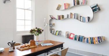 Полки для книг изогнутой формы