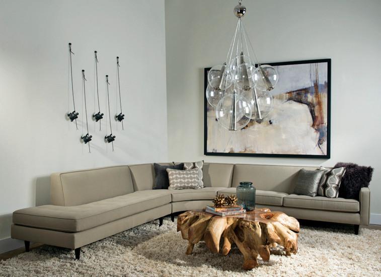 Подвесные светильники из коллекции Caviar в интерьере гостиной