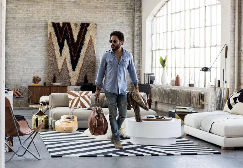 Коллекция дизайнерской мебели от знаменитого певца