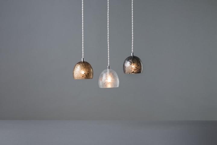 Круглые светильники из коллекции Tree Frost от Mikiya Kobayashi and Kohei Glass Studio