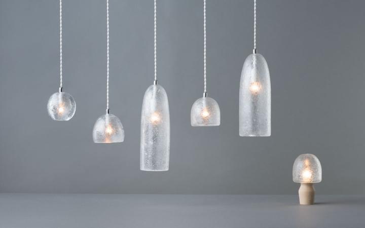 Коллекция светильники Tree Frost от Mikiya Kobayashi and Kohei Glass Studio