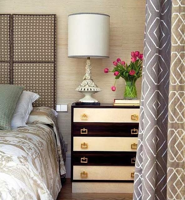 Шикарныйй комод в интерьере спальни