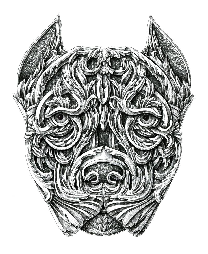 Алекс Конахин: великолепная серия графических иллюстраций «Мои собаки»