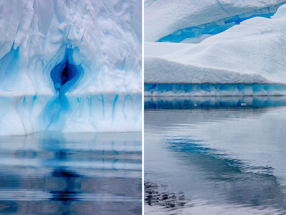 Джулиана Кост: голубые льды Антарктиды в потрясающей серии фотографий