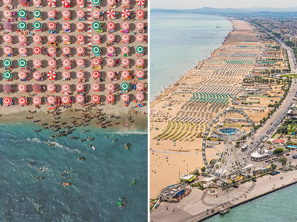 Изысканная фотография пляжа с верху от Bernhard Lang