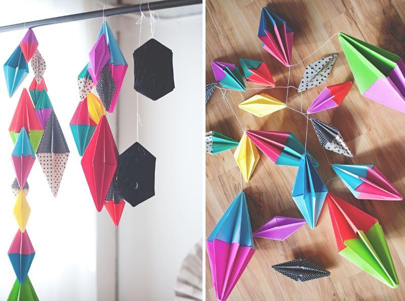 Бумажные гирлянды для создания праздничного настроения