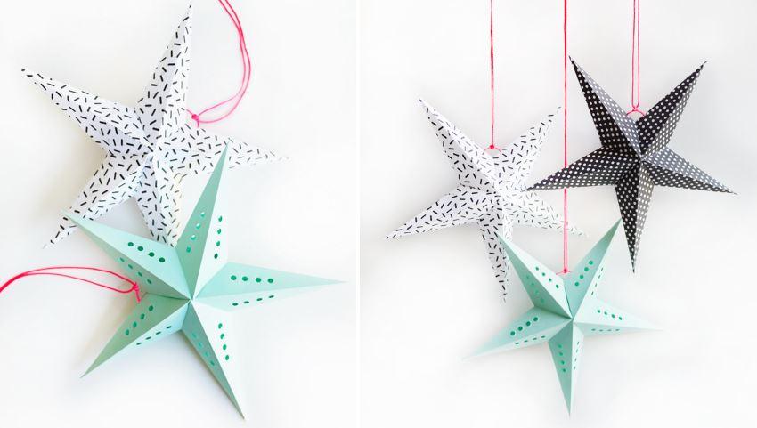 Бумажные звезды для создания праздничного настроения