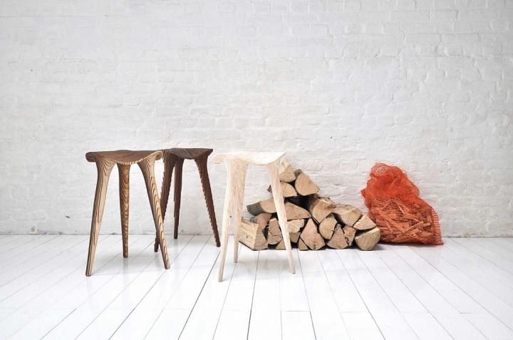 Красивая деревянная табуретка Sadl от LMBRJK