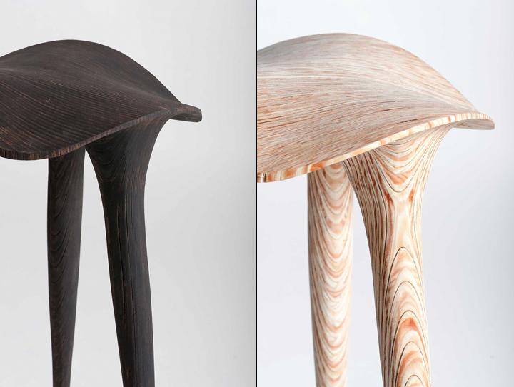 Прекрасная деревянная табуретка Sadl от LMBRJK