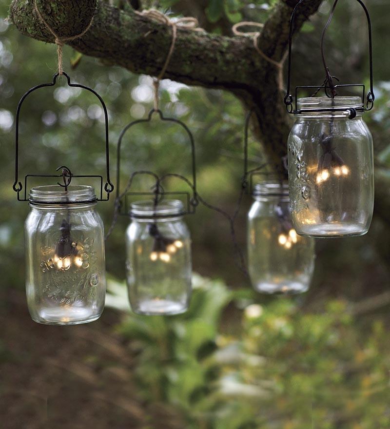 Оригинальные лампочки в банках