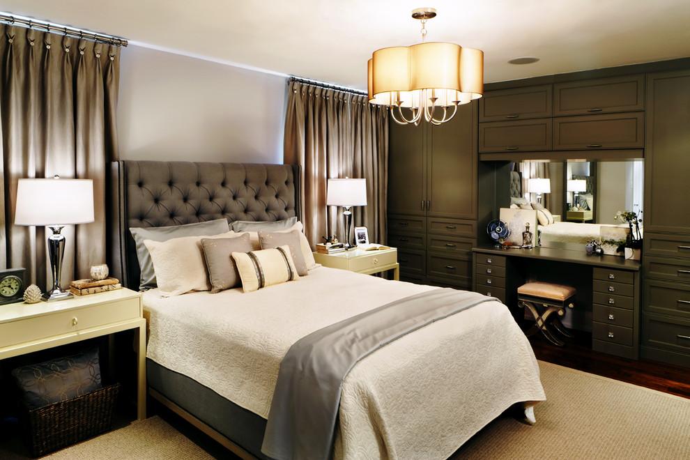Креативная подвесная люстра в интерьере спальни от Sealy Design