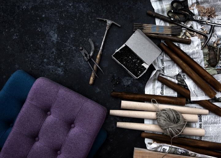 Красивые инструменты для создания табурета и стула от HANSEN