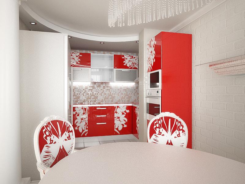 Красивый дизайн кухонной зоны