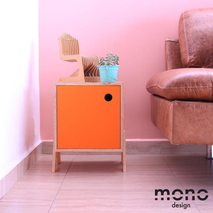 Необычная тумбочка в интерьере из коллекции Mono от Studio dLux