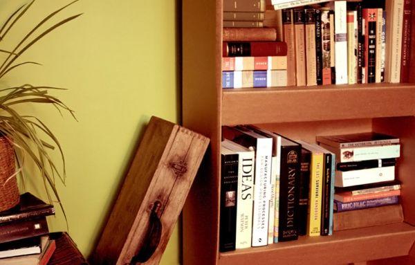 Книжные полки из картона